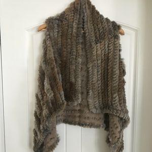 Dolce Cabo 100% rabbit fur vest